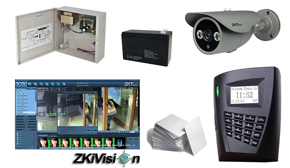 Kit de securitate integrat Control Acces + Video (ZKSK-SRF1)