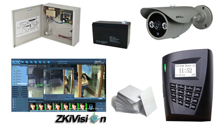 Kit de securitate integrat Control Acces + Video (ZKSK-SRF1)