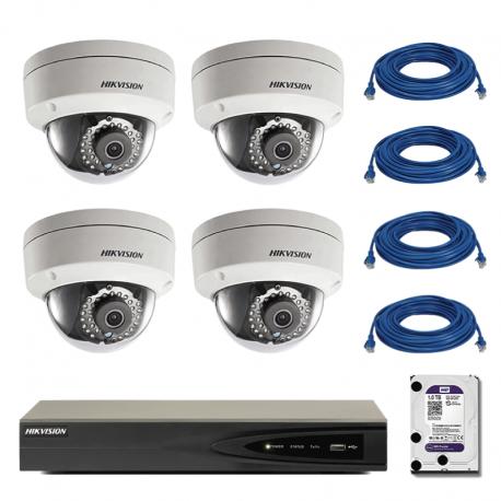 kit-complet-de-supraveghere-ip-hikvision-cu-4-camere-de-interior-tip-dome-13-mp-cu-hdd-1tb-si-100m-cablu-utp